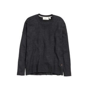 H&M Black Wool Blend Oversized Crew Neck Sweater